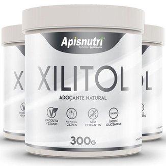 Kit 3 Xylitol adoçante natural Apisnutri 300g