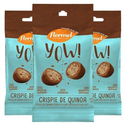 Kit 3 Yow Flormel Crispie de Quinoa 40g