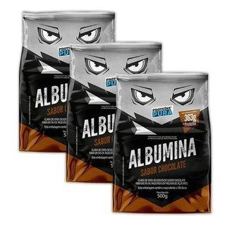 Kit 3x Albumina 500g  Proteína Pura