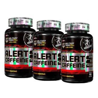 Kit 3X Alert Caffein 90 Caps Midway