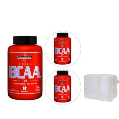 Kit 3X Amino Bcaa Top 120 Cáps Body Size – Integralmédica