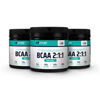 Kit 3x BCAA 2:1:1 - BCAA em pó - Stark Supplements