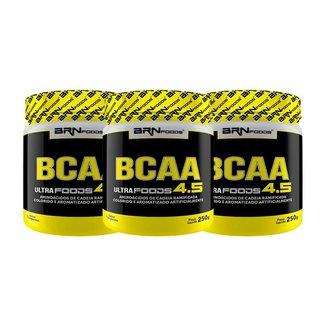 Kit 3x BCAA Ultra foods 250g - BRNFOODS