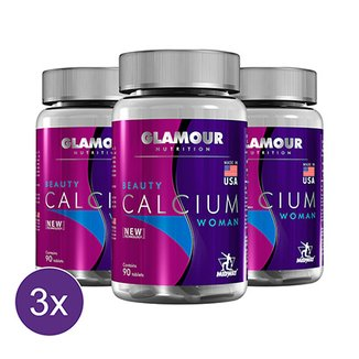 Kit 3x Beauty Calcium: Cálcio + Vitamina D Glamour 90 tabs