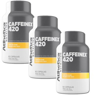 Kit 3X Caffeinex 420 - 60 Cápsulas - Atlhetica Nutrition