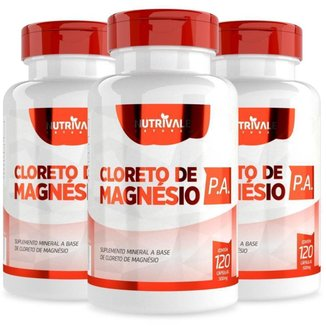 KIT 3X Cloreto de Magnésio P.A. 500mg 120 cápsulas