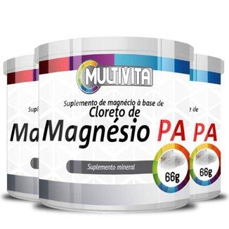 KIT 3X Cloreto de Magnésio P.A 66g - Multivita