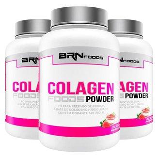 Kit 3x Colageno Foods Powder - BRNFOODS
