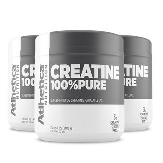 Kit 3x Creatina 100% Pura 300g - Atlhetica Nutrition