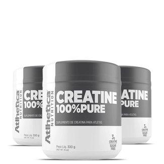 Kit 3x Creatina 100% Pure 300g - Atlhética Nutrition