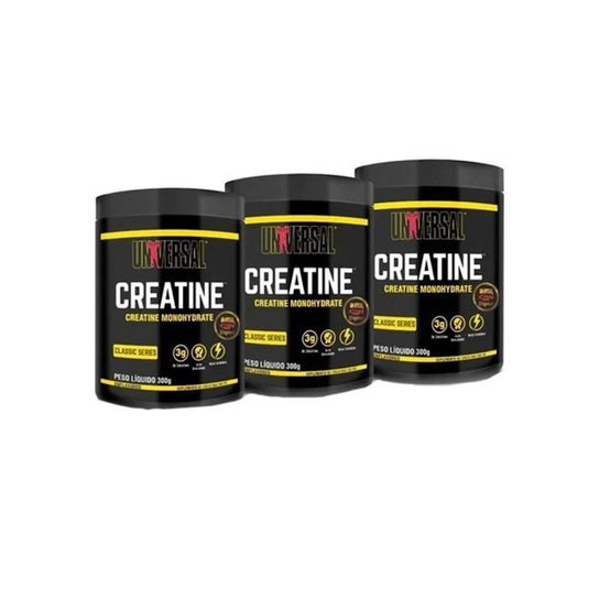 Kit 3x Creatina - 200g - Sem Sabor - Universal Nutrition -