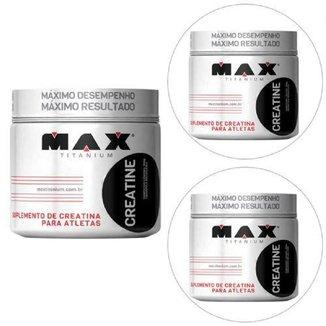 Kit 3x Creatina - 300g - Max Titanium