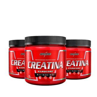 Kit 3x Creatina Hardcore 300g - IntegralMédica