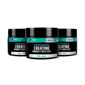 Kit 3x Creatine Monohydrate Caps Stark Supplements 120 Cápsulas