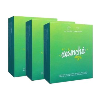 Kit 3x Desinchá (3x 60 sachês)