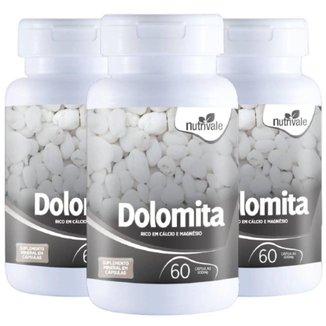 KIT 3X Dolomita ( Cálcio + Magnésio) 60 cápsulas - Nutrivale