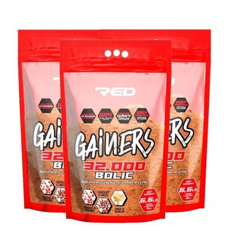 Kit 3x Gainers Bolic 3kg  Red series
