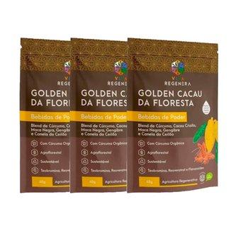 Kit 3x Golden Cacau Bebidas de Poder Viva Regenera 60g