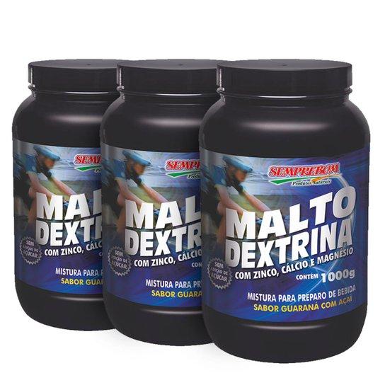 Kit 3x Malto Dextrina - SempreBom 1000 g -
