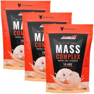 Kit 3x Mass Complex 3kg Baunilha - New Millen