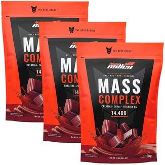 Kit 3x Mass Complex 3kg Chocolate - New Millen