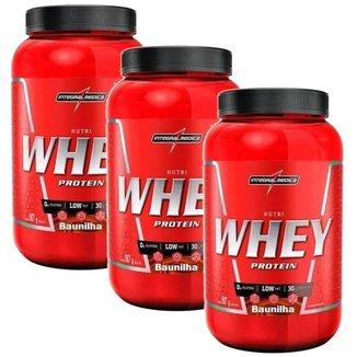 Kit 3X Nutri Whey Protein - 907g Baunilha - IntegralMédica
