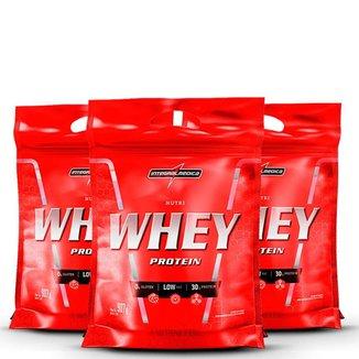 Kit 3x Nutri Whey Protein 907g - IntegralMédica