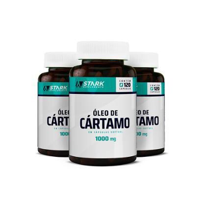 Kit 3x Óleo de Cártamo Stark Supplements 1000 mg - 120 cápsulas - Unissex
