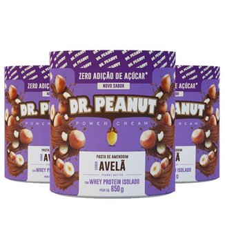 Kit 3x Pasta de Amendoim 650g - Dr Peanut