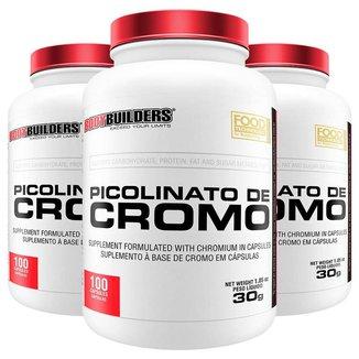 Kit 3x Picolinato de Cromo - Bodybuilders