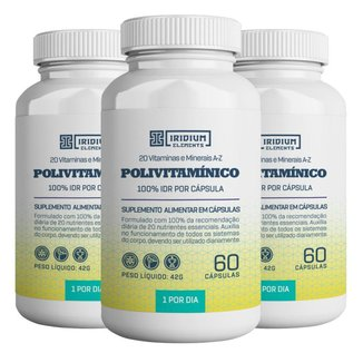 Kit 3x Polivitamínico - Iridium Elements