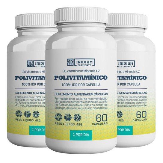 Kit 3x Polivitamínico - Iridium Elements -
