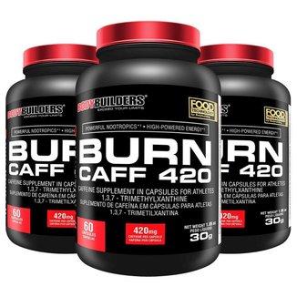 Kit 3x Pré treino Burn Caff - Bodybuilders