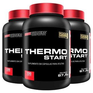 Kit 3x Pré-Treino - Thermo Start 100Caps - Bodybuilders