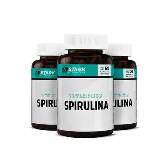 Kit 3x Spirulina - 120 Cápsulas - Stark Supplements