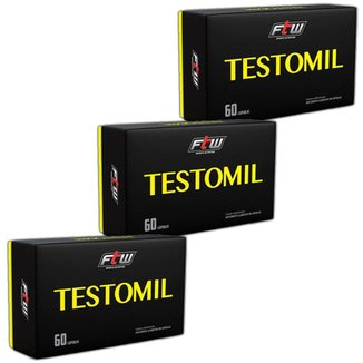 Kit 3x Testosterona Testomil 60 caps  FTW