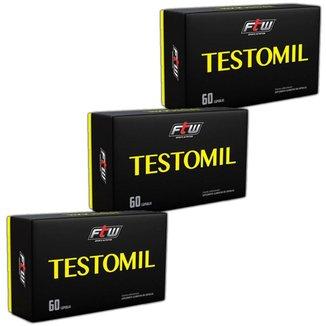 Kit 3x Testosterona Testomil 60 caps  FTW