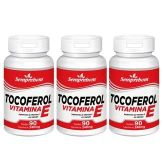 Kit 3x Tocoferol Vitamina E  Semprebom 90 Cap. de 240 mg.