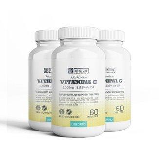 Kit 3x Vitamina C 1000MG - 60 tabletes - Iridium Elements