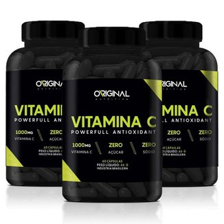 Kit  3x Vitamina C 60 Cáps - Original Nutrition