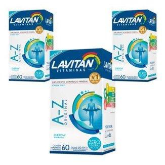 Kit 3x Vitamina Lavitan A-z 60 Cp