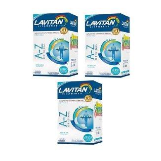 Kit 3x Vitamina Lavitan A-z 90 Cp