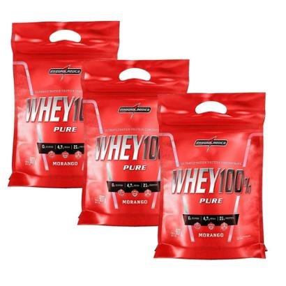 Kit 3X Whey 100% Pure - 907g Refil IntegralMédica