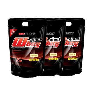 Kit 3x Whey Giant whey refil 2kg - Bodybuilders