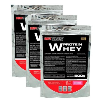 Kit - 3x Whey Protein 500g - Bodybuilders