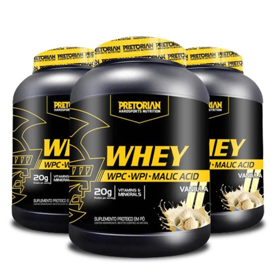 Kit 3x Whey Protein Ultra Protein 900g - Pretorian -