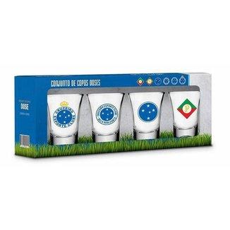 Kit 4 Copos Dose Cruzeiro
