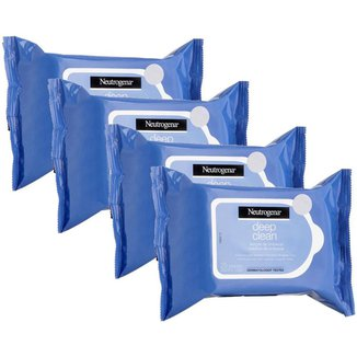 Kit 4 Demaquilantes Neutrogena Deep Clean 25 unidades