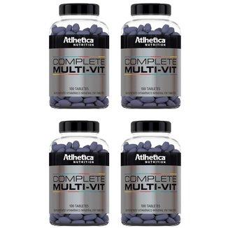 Kit 4 x Multivitamínico Complete   Athletica 100 Tabletes