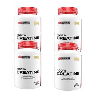 kit 4x 100% creatina 300g - Bodybuilders